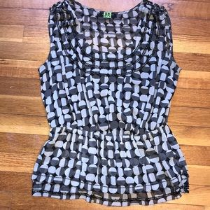 Banana Republic Beaded Sleeveless Blouse